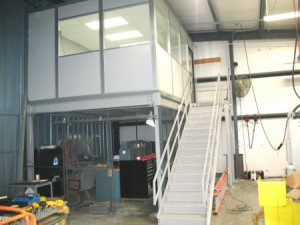 mezzanine warehouse office