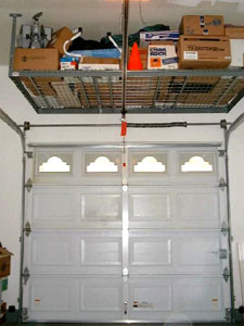 garage ceiling storage above door