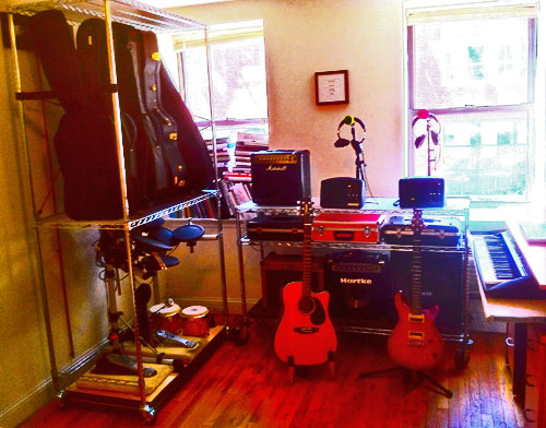 Racks, stands, and shelving for Home recording studio
