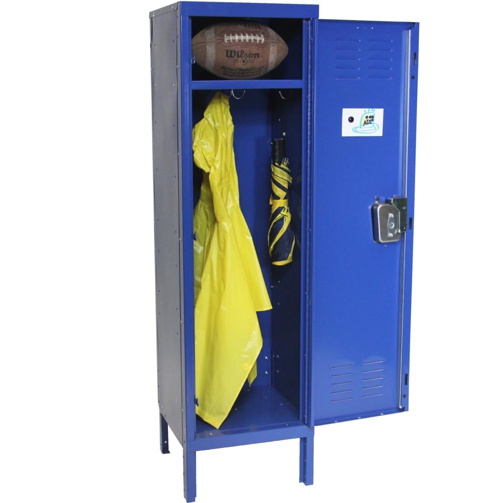 blue storage locker