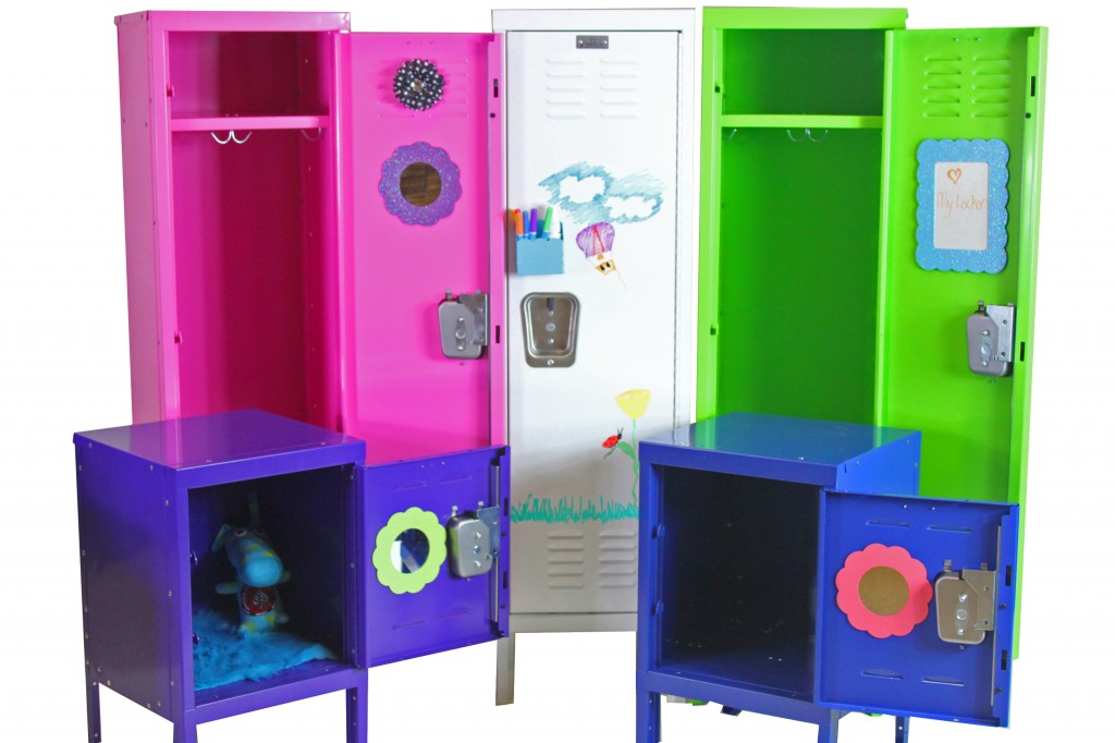 kids lockers in multiple colors