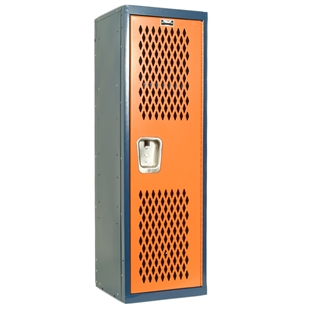blue and orange Detroit Tigers home team colored locker for kids rooms