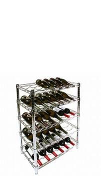 Chrome-Wire-Wine-Racks