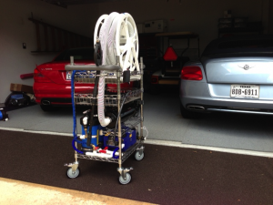 Wire Shelving Car Wash Cart