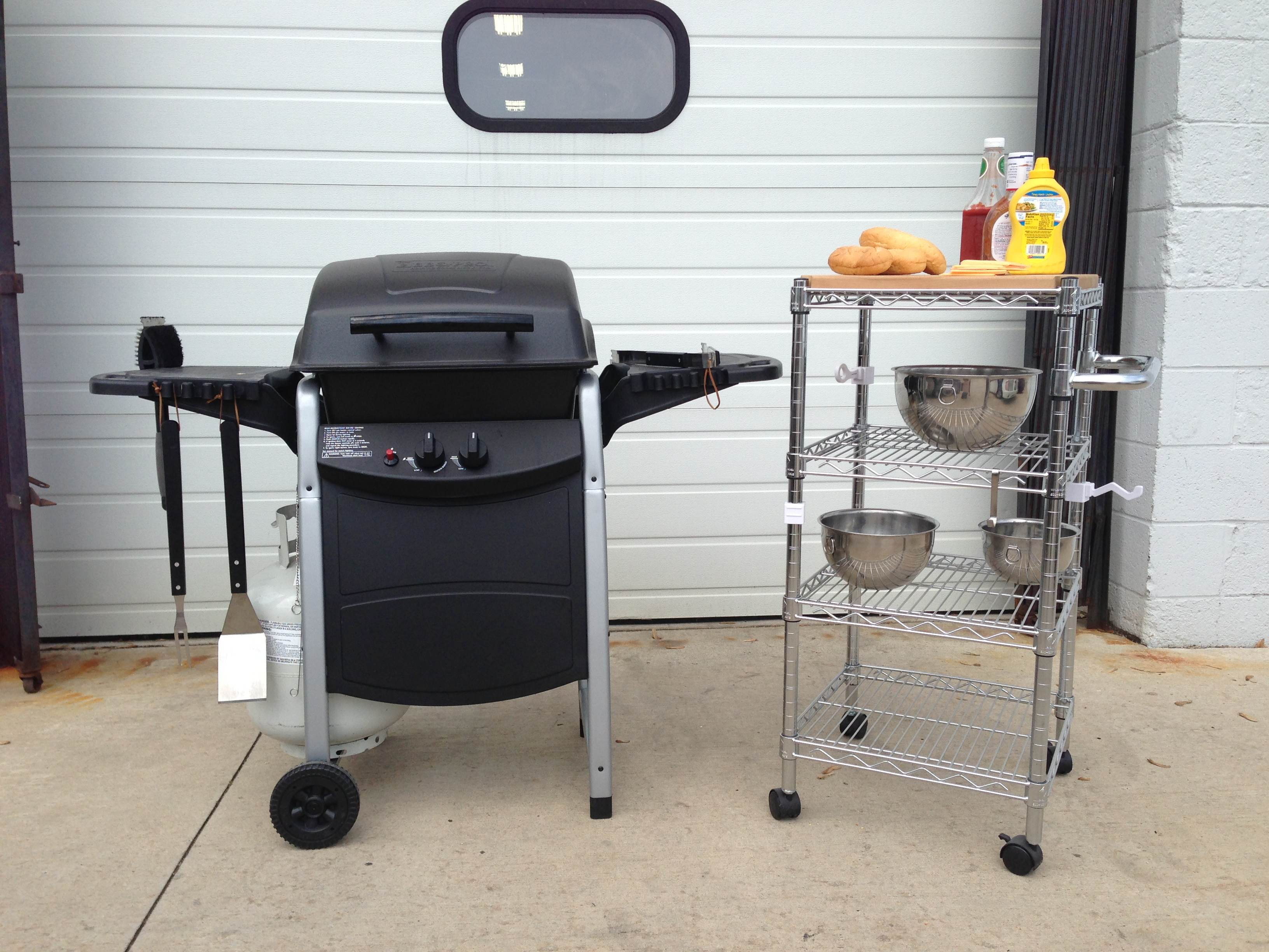 Grill Anywhere... With Casters! - The Shelving Blog