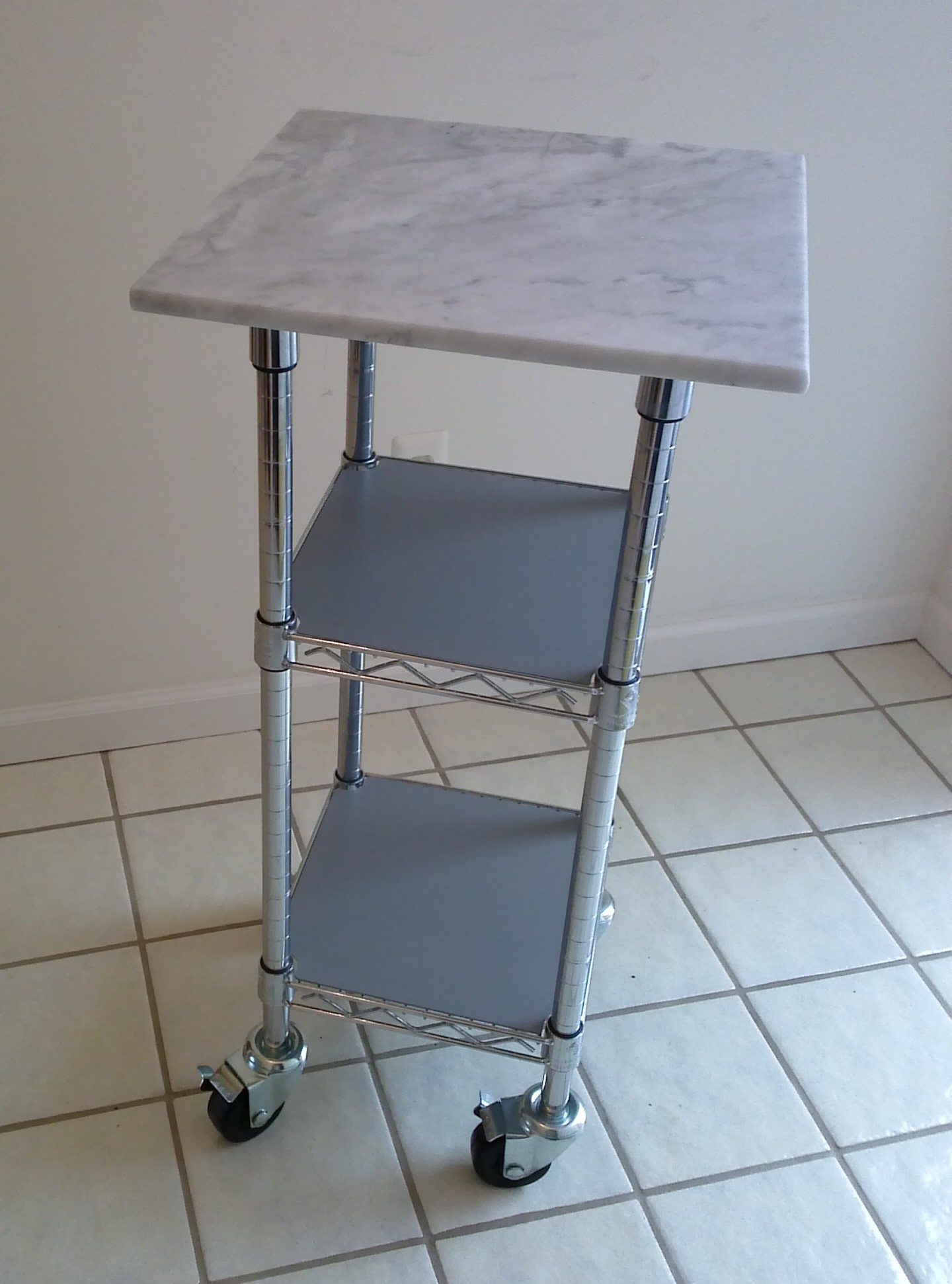 Creative Shelving Cart The Shelving Blog truly Amazing Marble Top Kitchen Cart – Perfect Photo Source