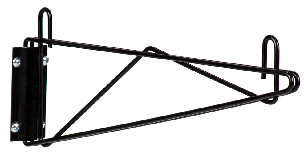 single wall mount bracket- black