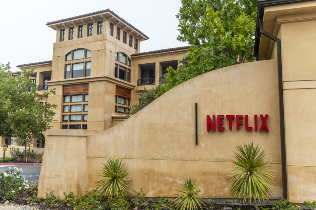 netflix headquarters front gate, los gatos california