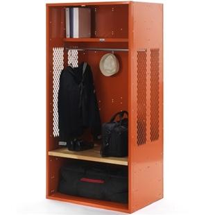 Organge open locker