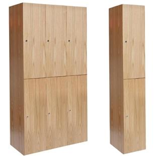 Double tier wood lockers