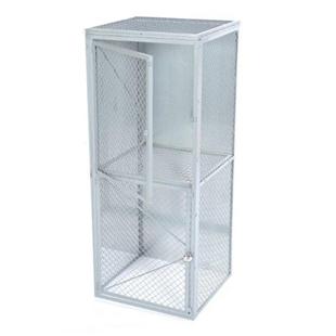 Double tier, wire mesh locker