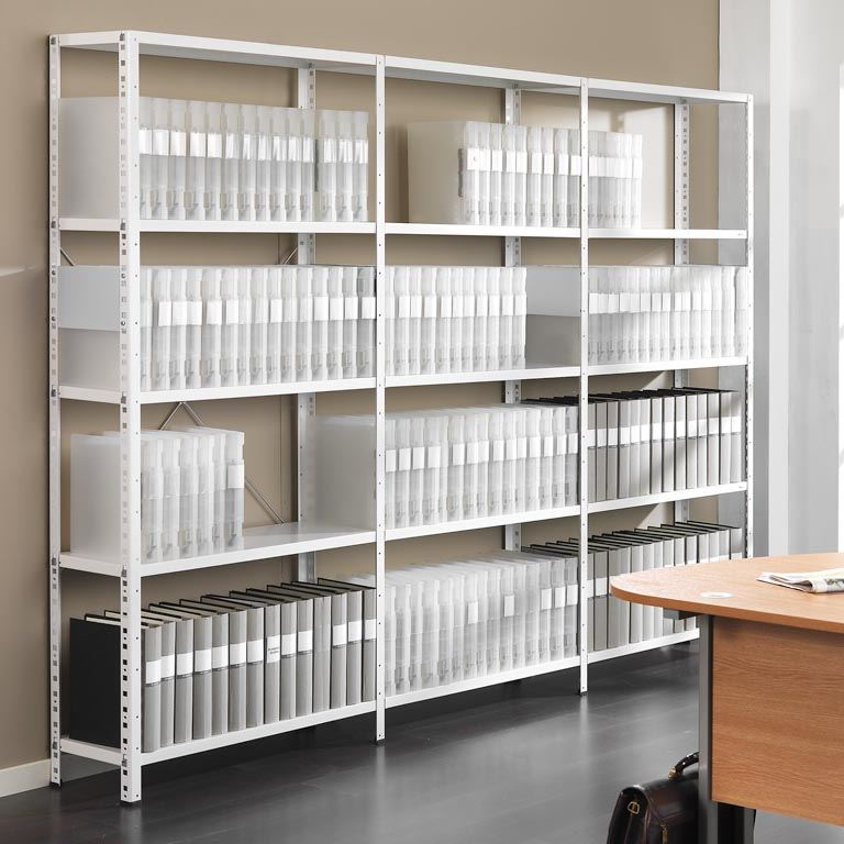 Single Rivet Shelving In Office