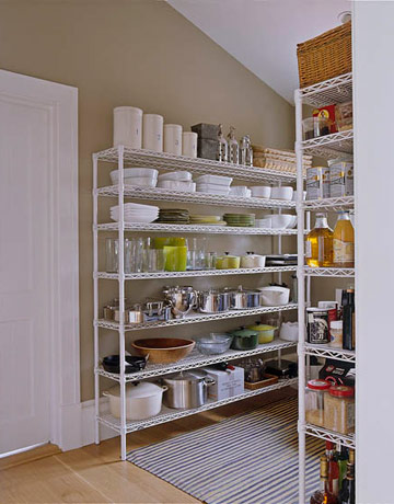 Ina Garten Wire Shelving In Pantry
