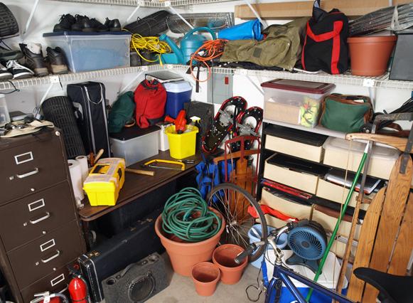 Messy Home Garage