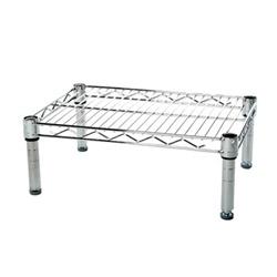 single shelf_wiring shelf_stainless steel