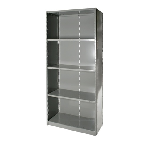 closed clip steel shelving