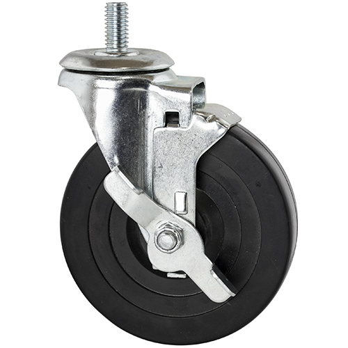 Threaded Rubber Caster For Wire Shelving