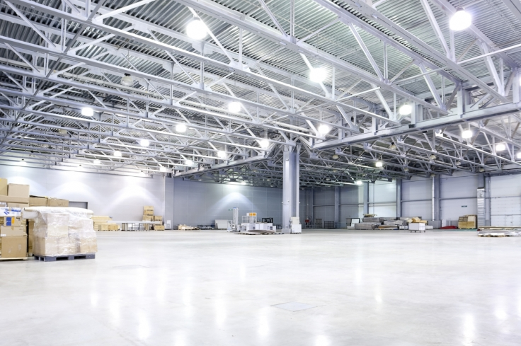 led lights in warehouse