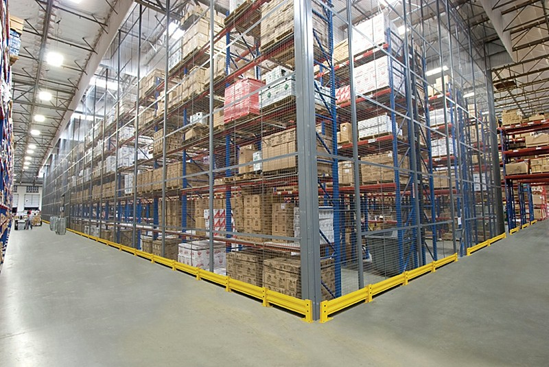 Wire Mesh Security Cage Partition In Warehouse