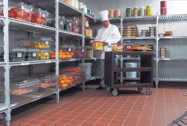 walk in fridge in restaurant kitchen