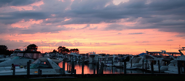 Sunset over MacRay Harbor