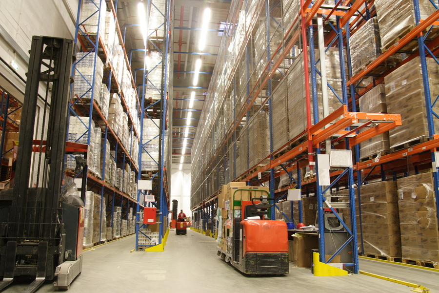 warehouse with pallet racks