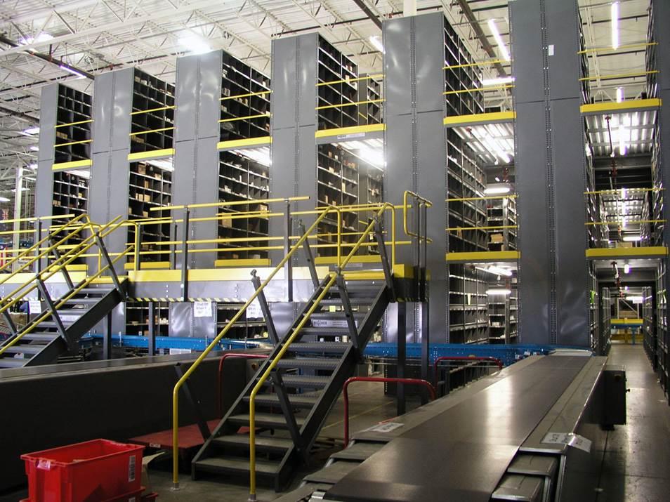 tiered mezzanine storage