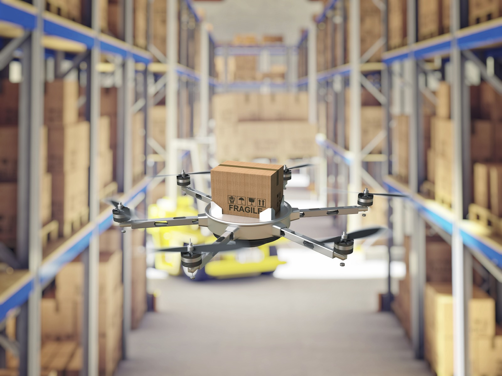 image of robotic drone in warehouse