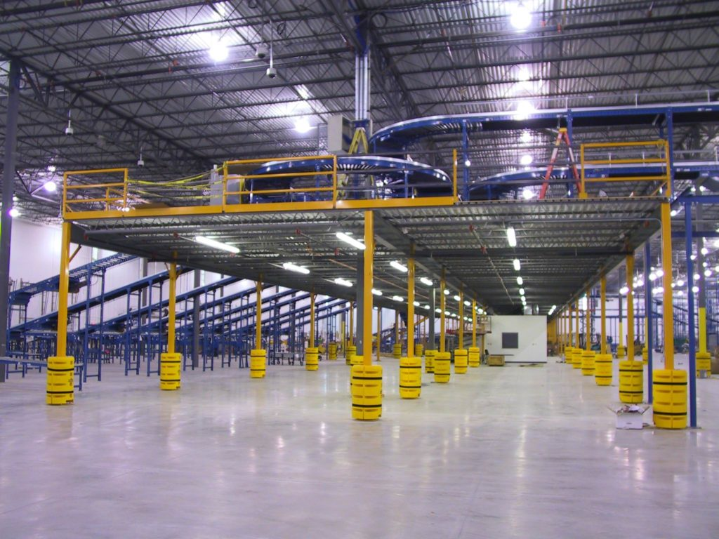 Steele Solutions Mezzanine : Mezzanine safety tips shelving inc the