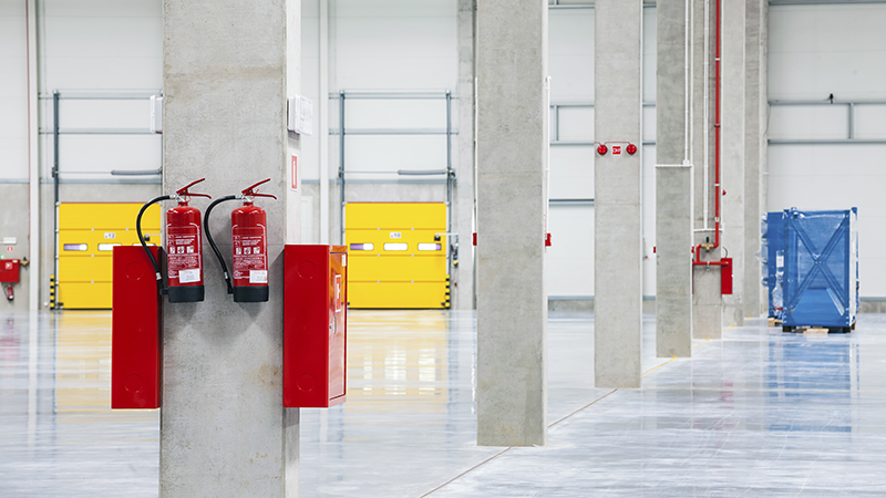 Safety equipment in a facility