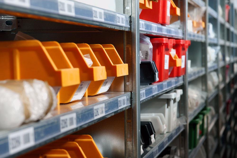 skus on plastic storage bins