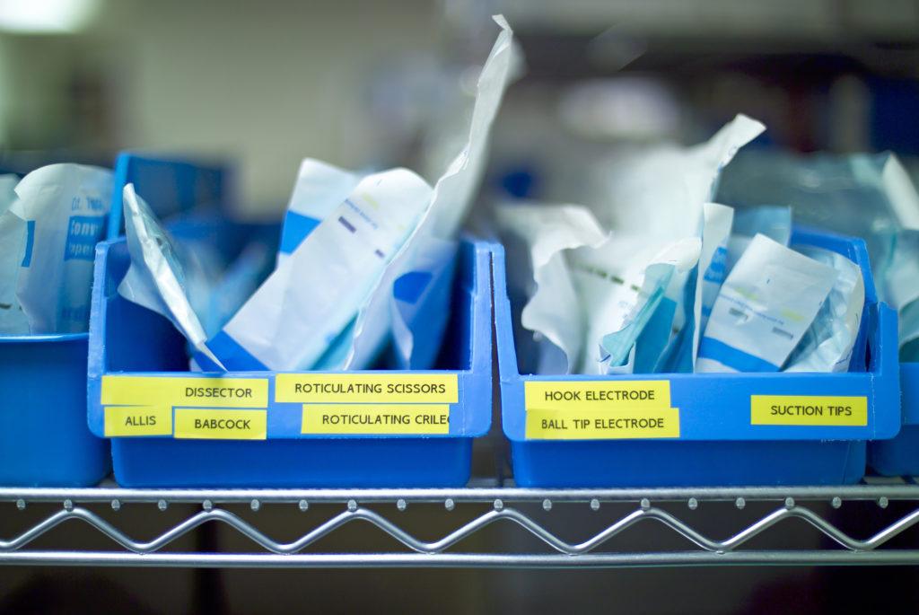 Labeled Akro bins