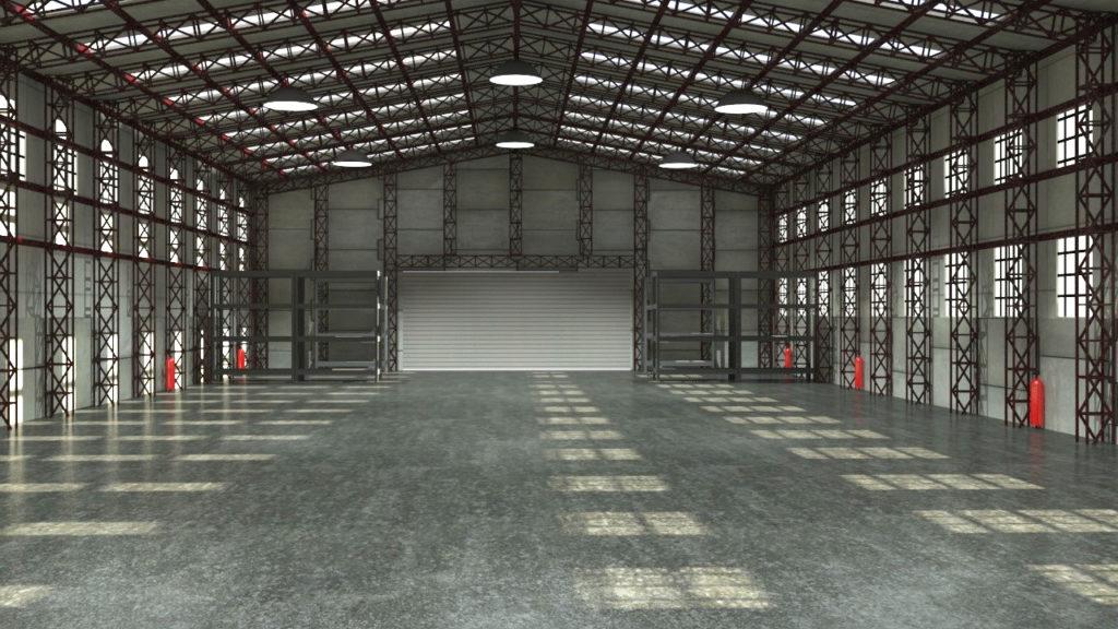 Empty industrial space