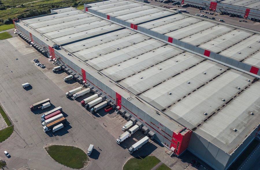 Shipping facility from above