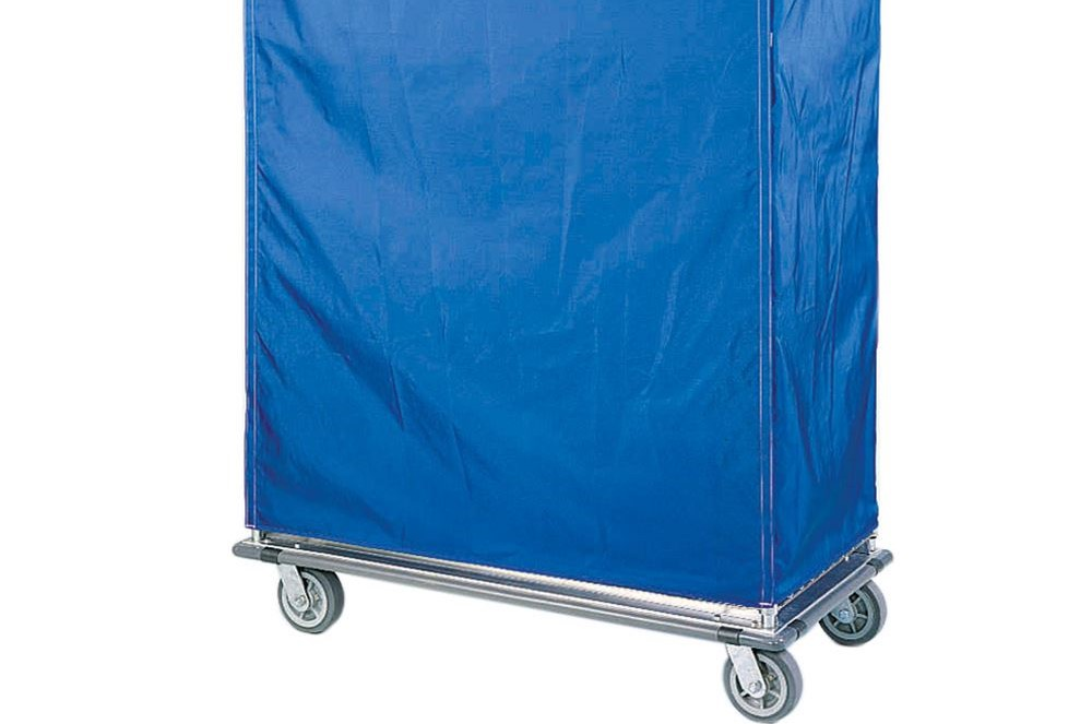 Wire cart with blue cover