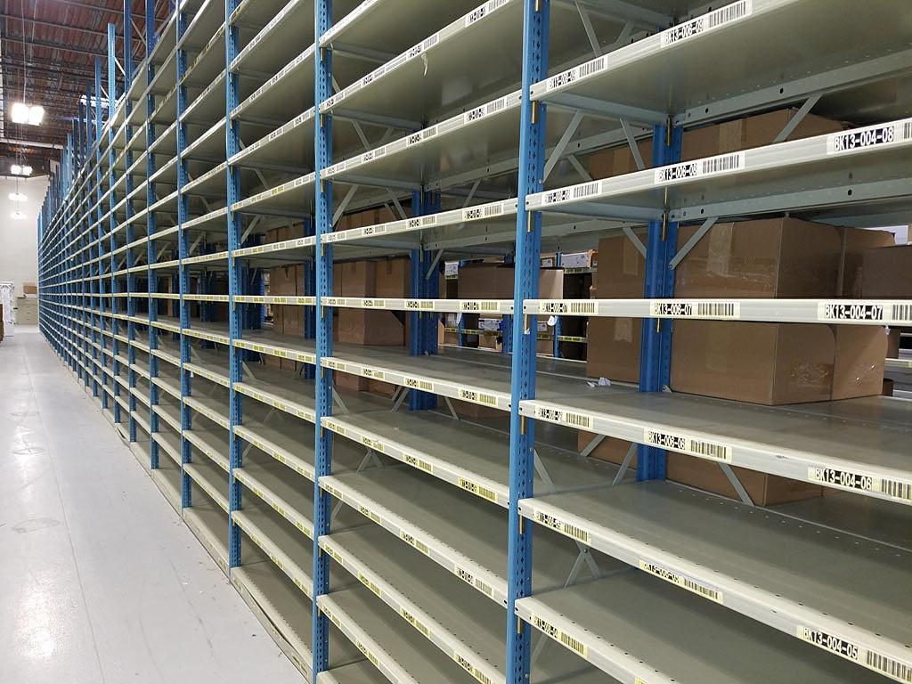 Empty bin shelving