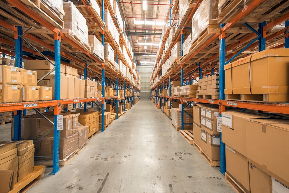 Organized inventory in warehouse